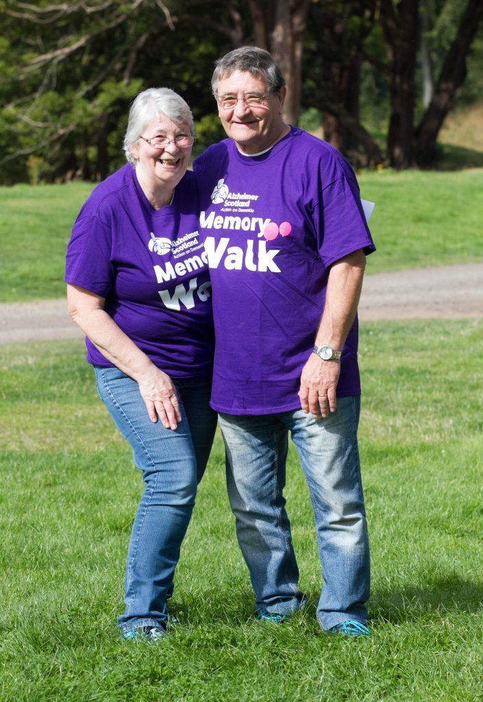 Joan Miller and Tucker Miller, Dalkeith walk (Chris Austin / DC Thomson)