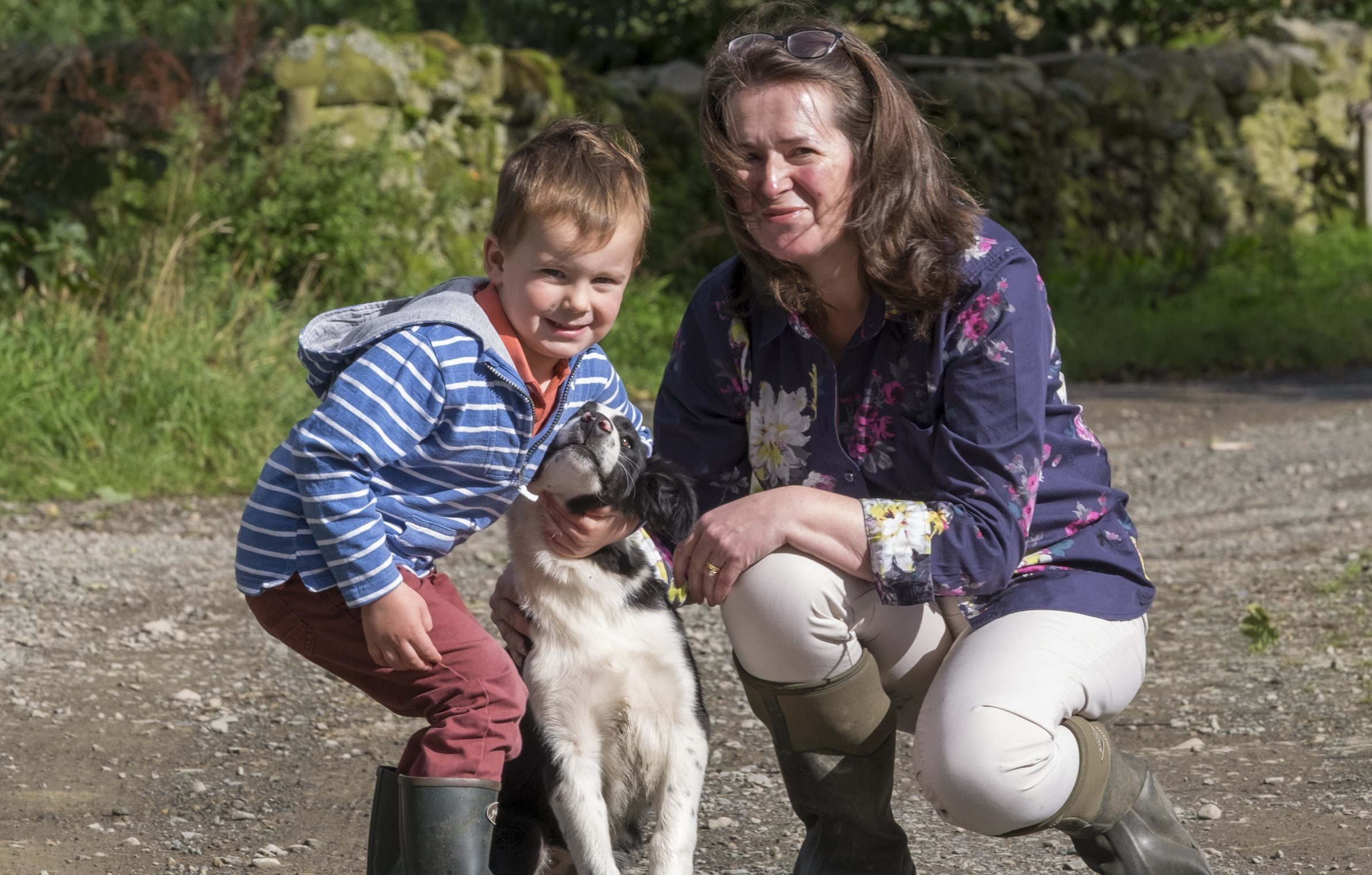 Ena Mitchell and her grandson Charlie (Rob Gray)