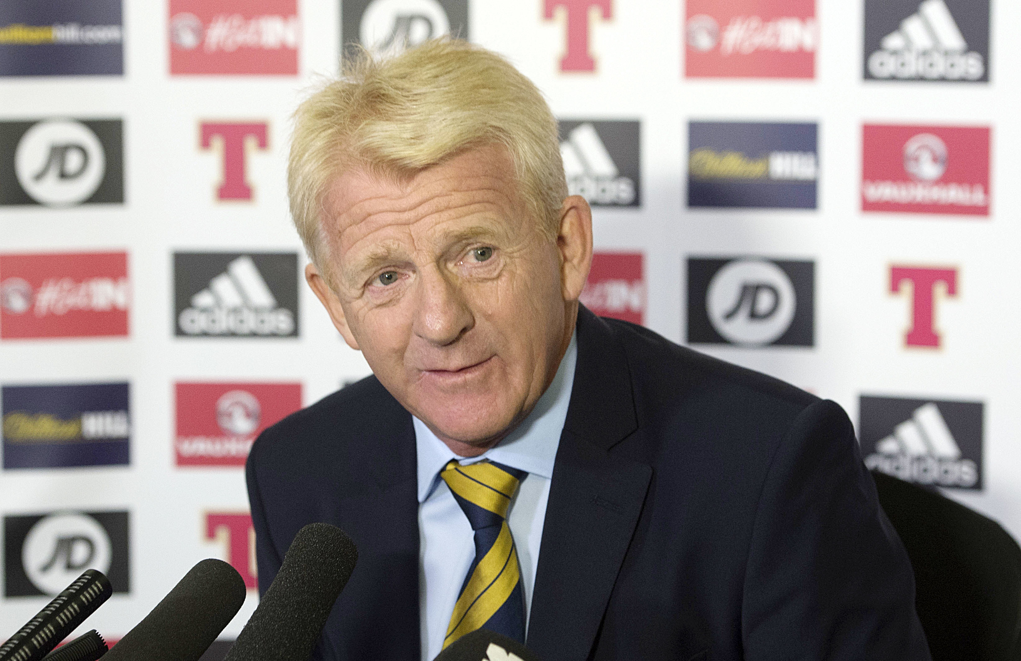 Scotland manager Gordon Strachan speaks to the press (SNS Group / Craig Foy)