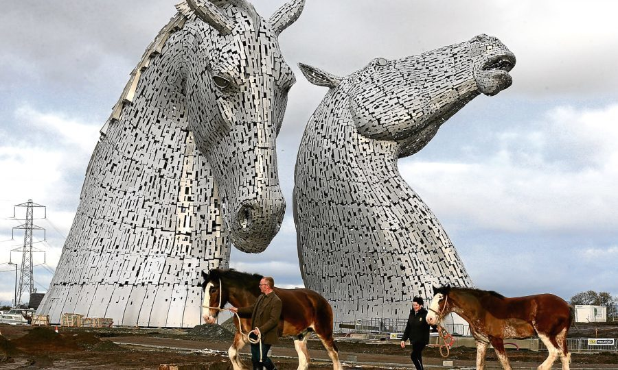 The Kelpies form a gateway to the Forth and Clyde canal at the Helix, Falkirk (Andrew Milligan / PA Archive)