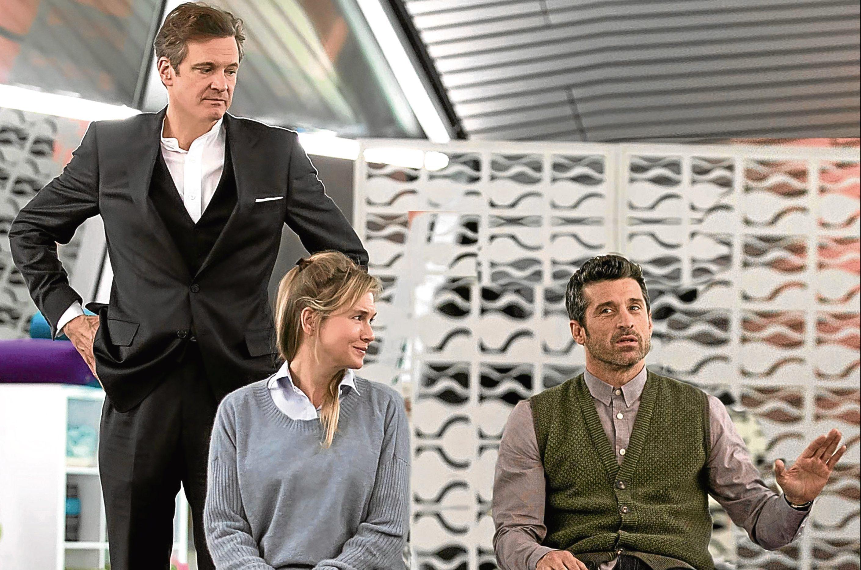 Colin Firth, Renee Zellweger and Patrick Dempsey in Bridget Jones' Baby (Allstar/UNIVERSAL PICTURES)