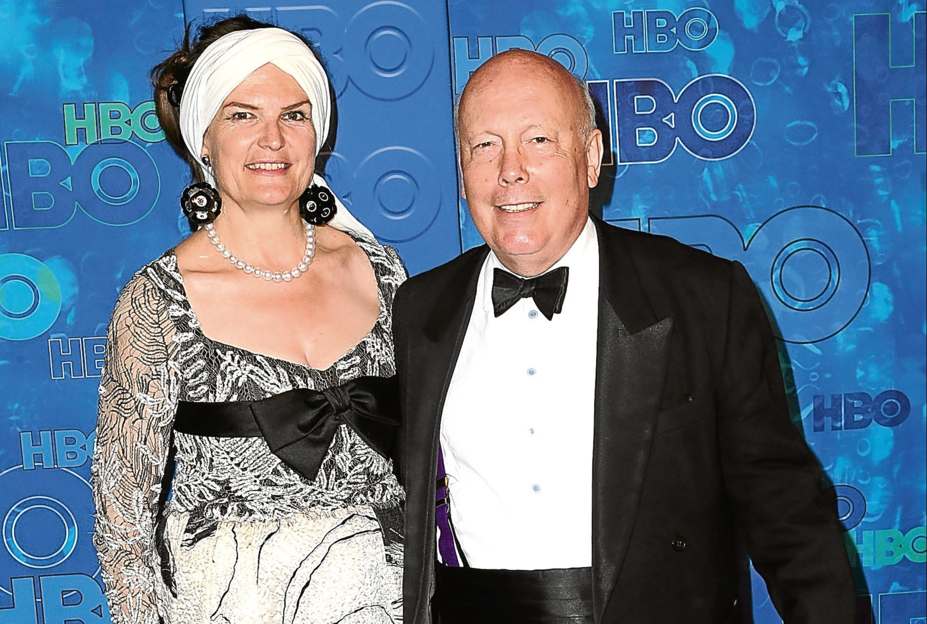 Sir Julian Fellowes and his wife (Photo by Frederick M. Brown/Getty Images)