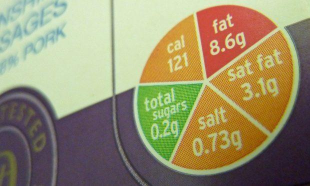 Traffic light nutrition label