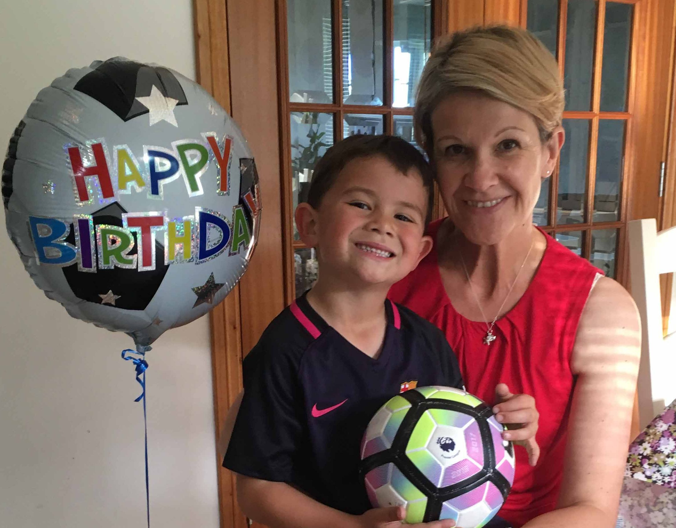 Anne Macleod Chang with her son Oliver, who is celebrating his sixth birthday