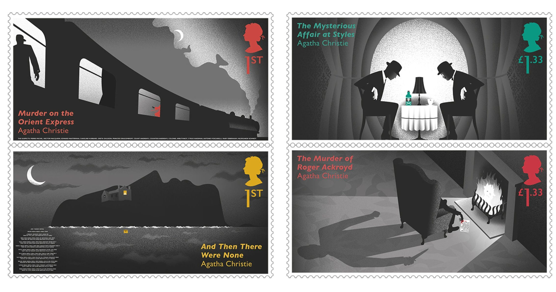 Agatha Christie stamps (Royal Mail/PA Wire)