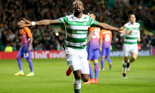 Celtic's Moussa Dembele celebrates (Jane Barlow/PA Wire)