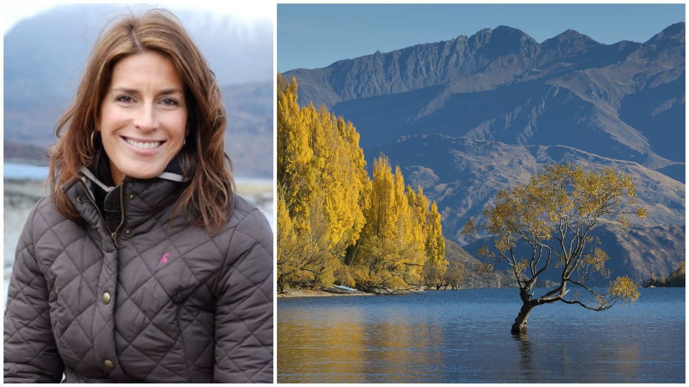 Sarah Mack, and the majestic scenery of the South Island's Lake Wanaka (Getty Images)