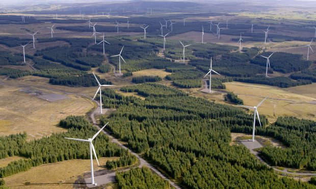 Whitelee, the UK's largest on-shore windfarm (Aerial Photography Solutions)