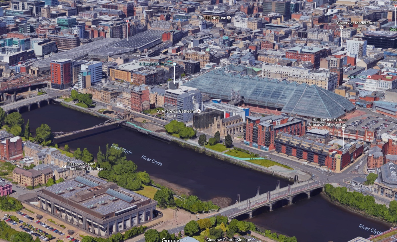 How to explore Glasgow and Edinburgh from above in 3D using Google