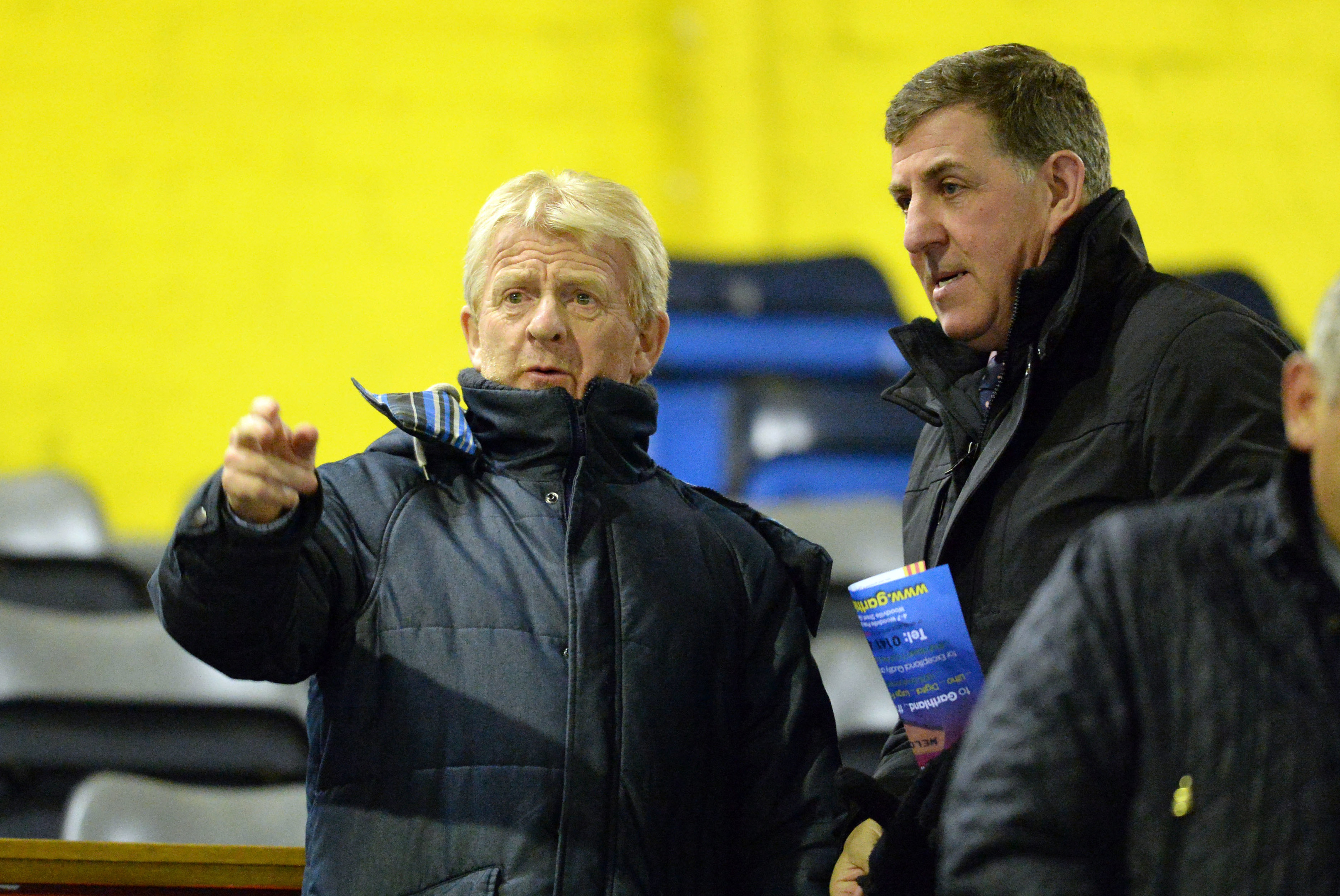 Scotland Manager Gordon Strachan (left) and coach Mark McGhee (SNS Group)