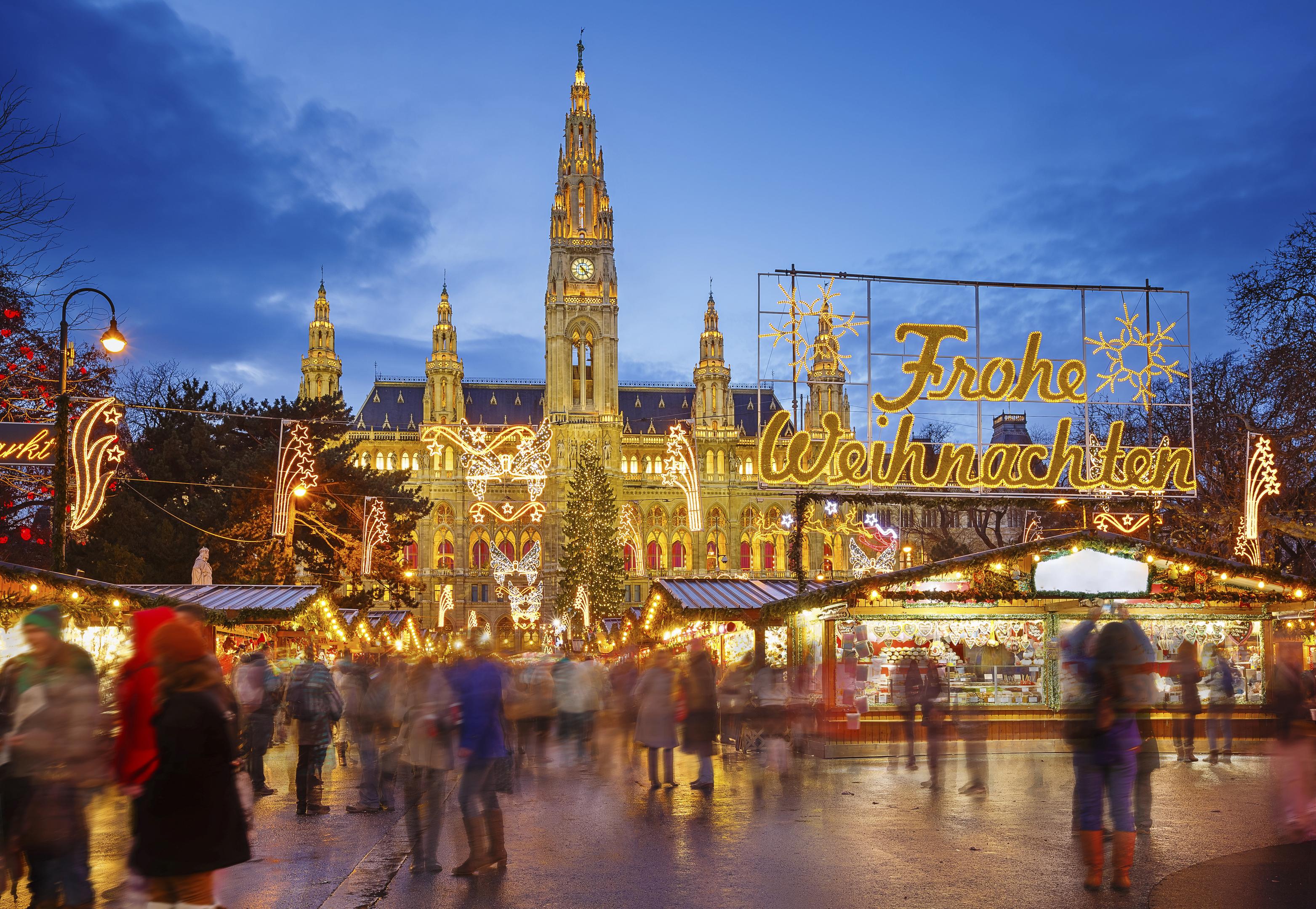 Christmas market in Vienna, Austria.