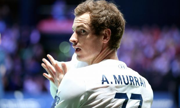 Andy Murray taking part in the event at The Hydro (Jane Barlow/PA Wire)