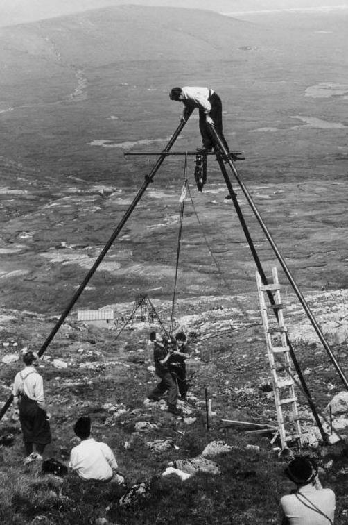 Philip Rankin, a former spitfire pilot, built the ski tow at Glencoe
