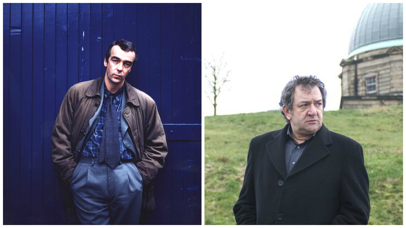 John Hannah as DI Rebus (left) and Ken Stott as Rebus in later series (right)