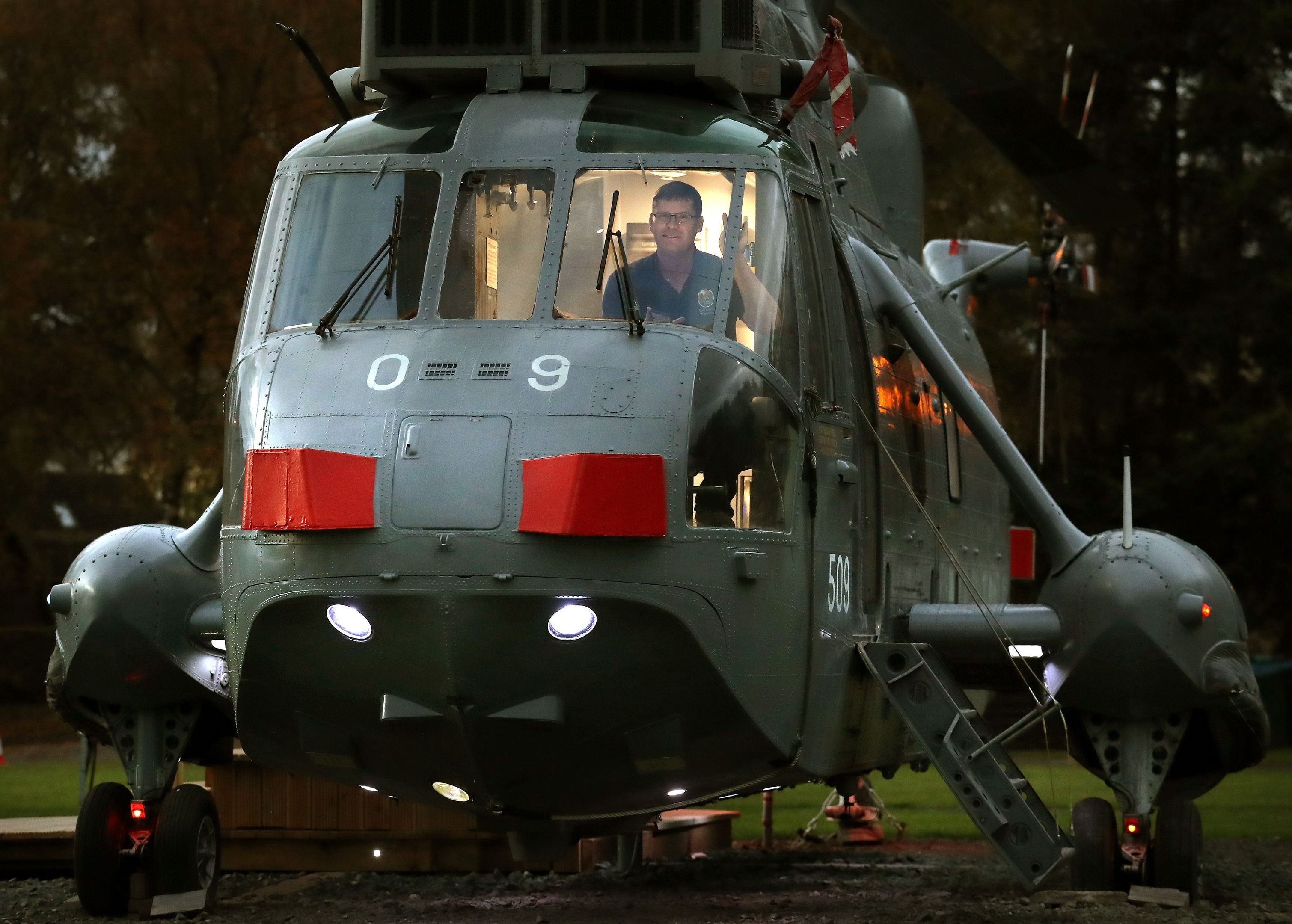 The Sea King helicopter (Andrew Milligan/PA Wire)
