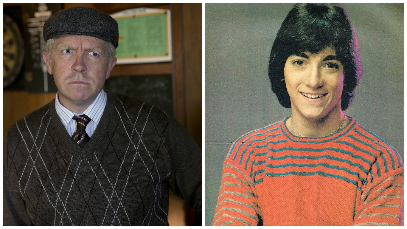 Left: Still Game's Tam (played by Mark Cox), Right: Happy Days' Chachi (played by Scott Baio)