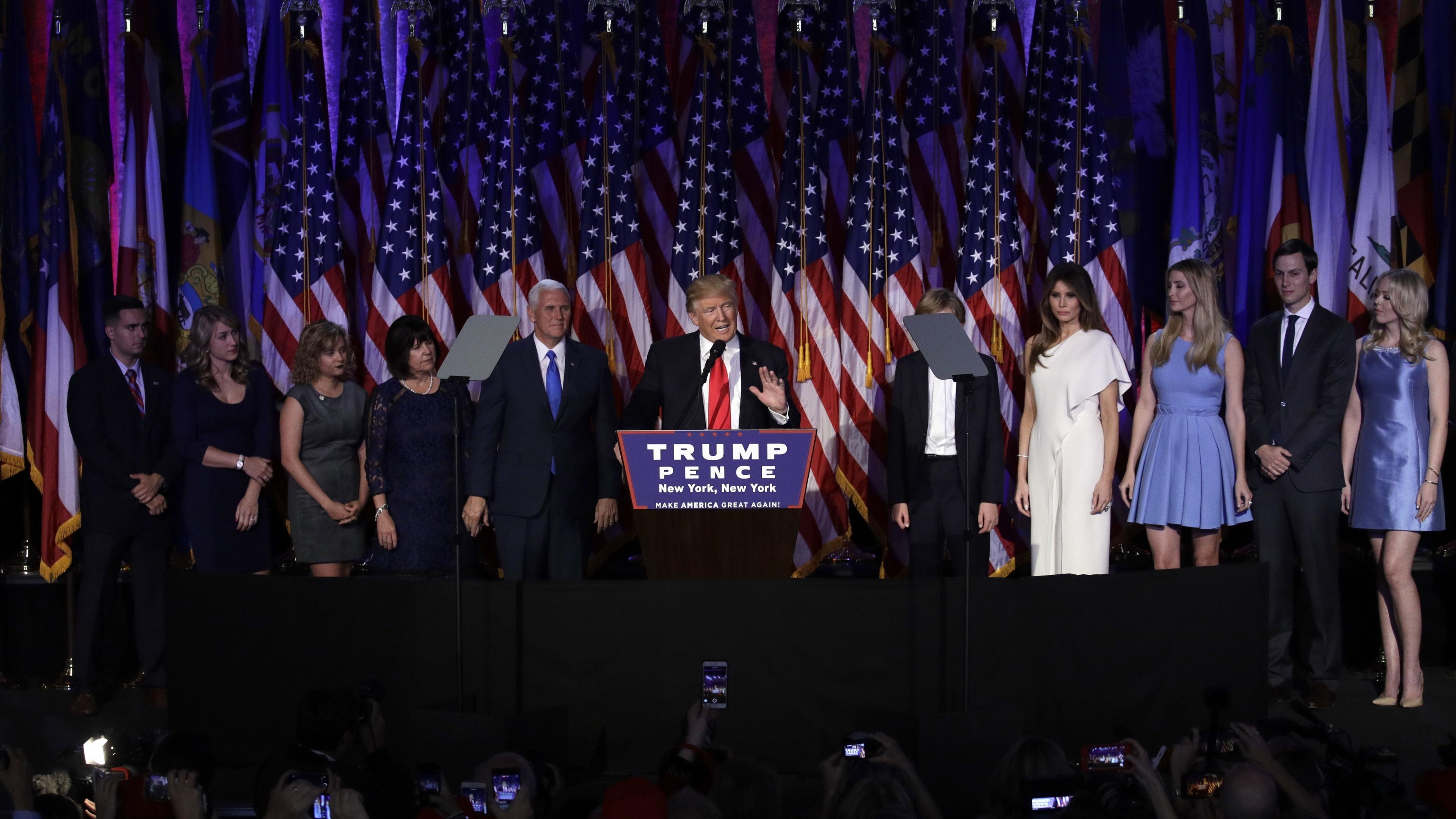 Trump's victory speech (PA)