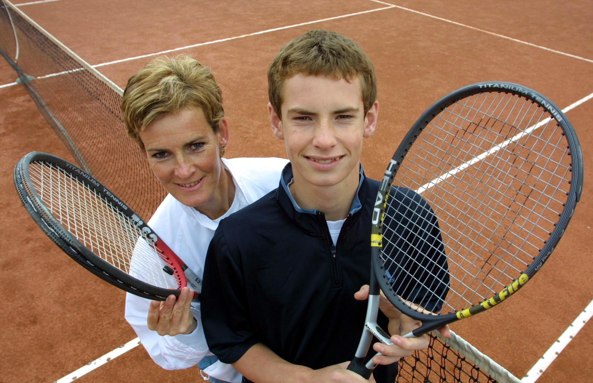 Judy with a 14-year-old Andy Murray (John Lindsay / Perthshire Picture Agency)