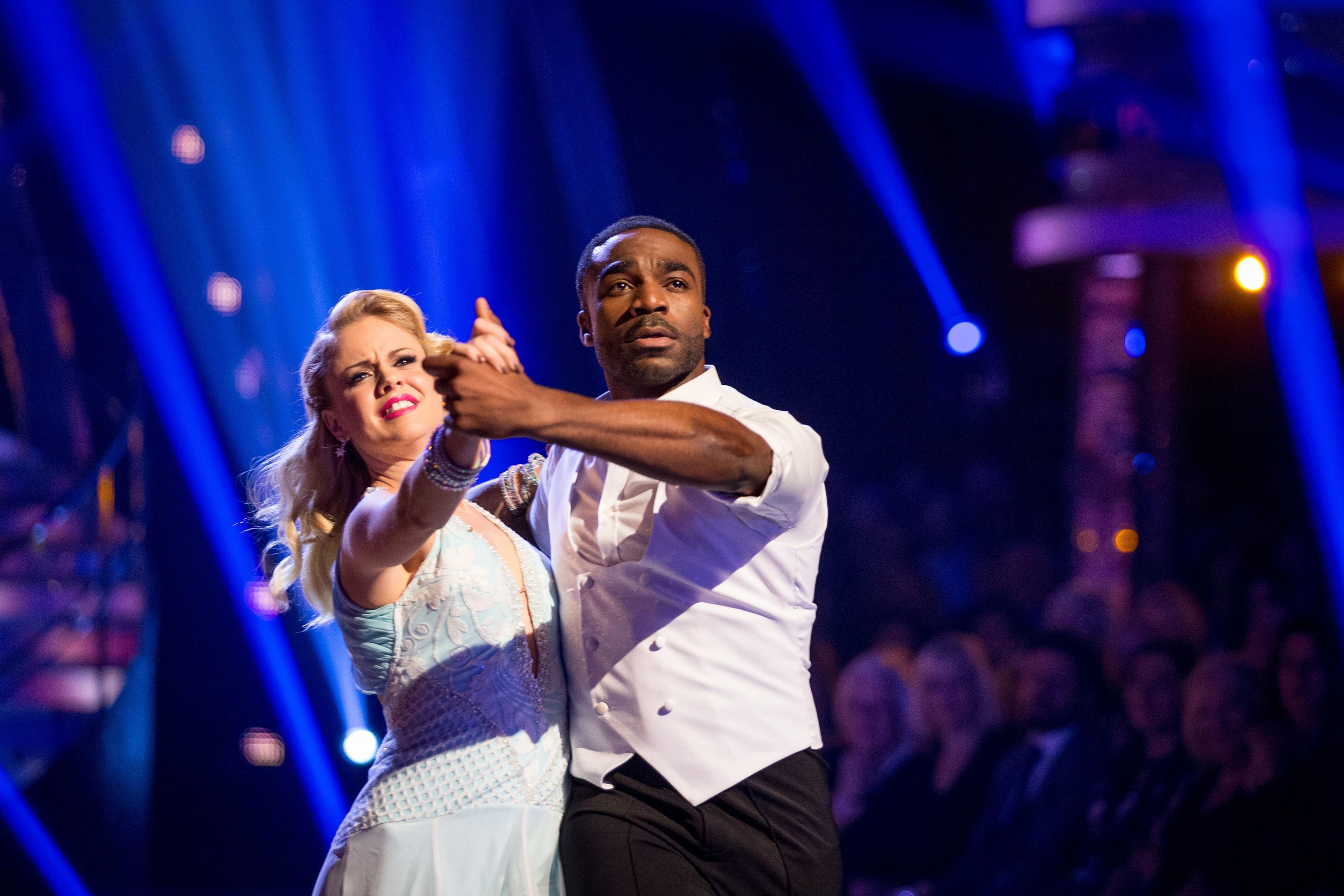 Joanne Clifton and Ore Oduba (BBC / Guy Levy)