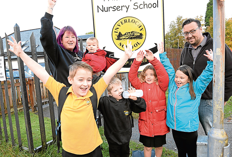 Pupils at Inverlochy Primary (Iain Ferguson / The Write Image)