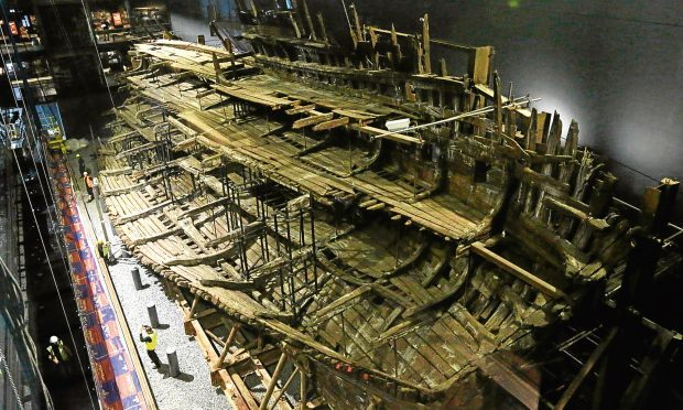 Henry VIII's warship, the Mary Rose after a £5.4m museum revamp  (Olivia Harris/Getty Images)