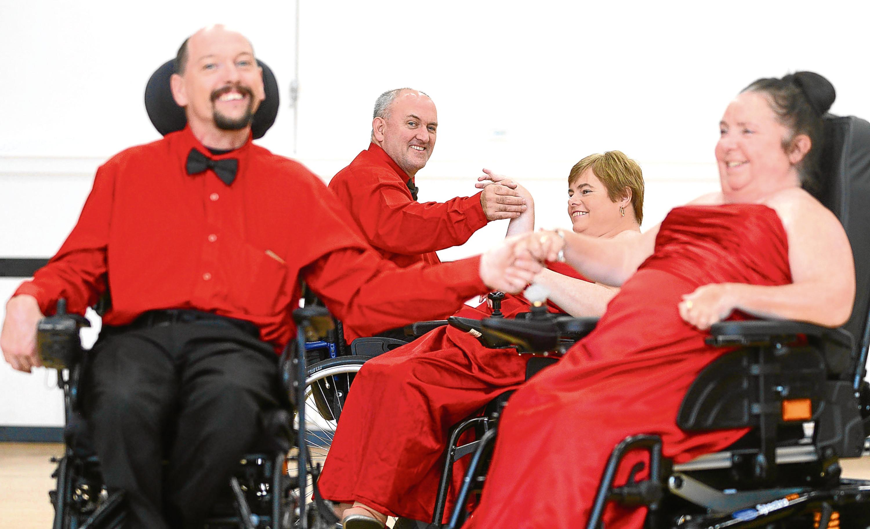 The prize-winning wheelchair dance team (Stuart Maxwell / SWNS)