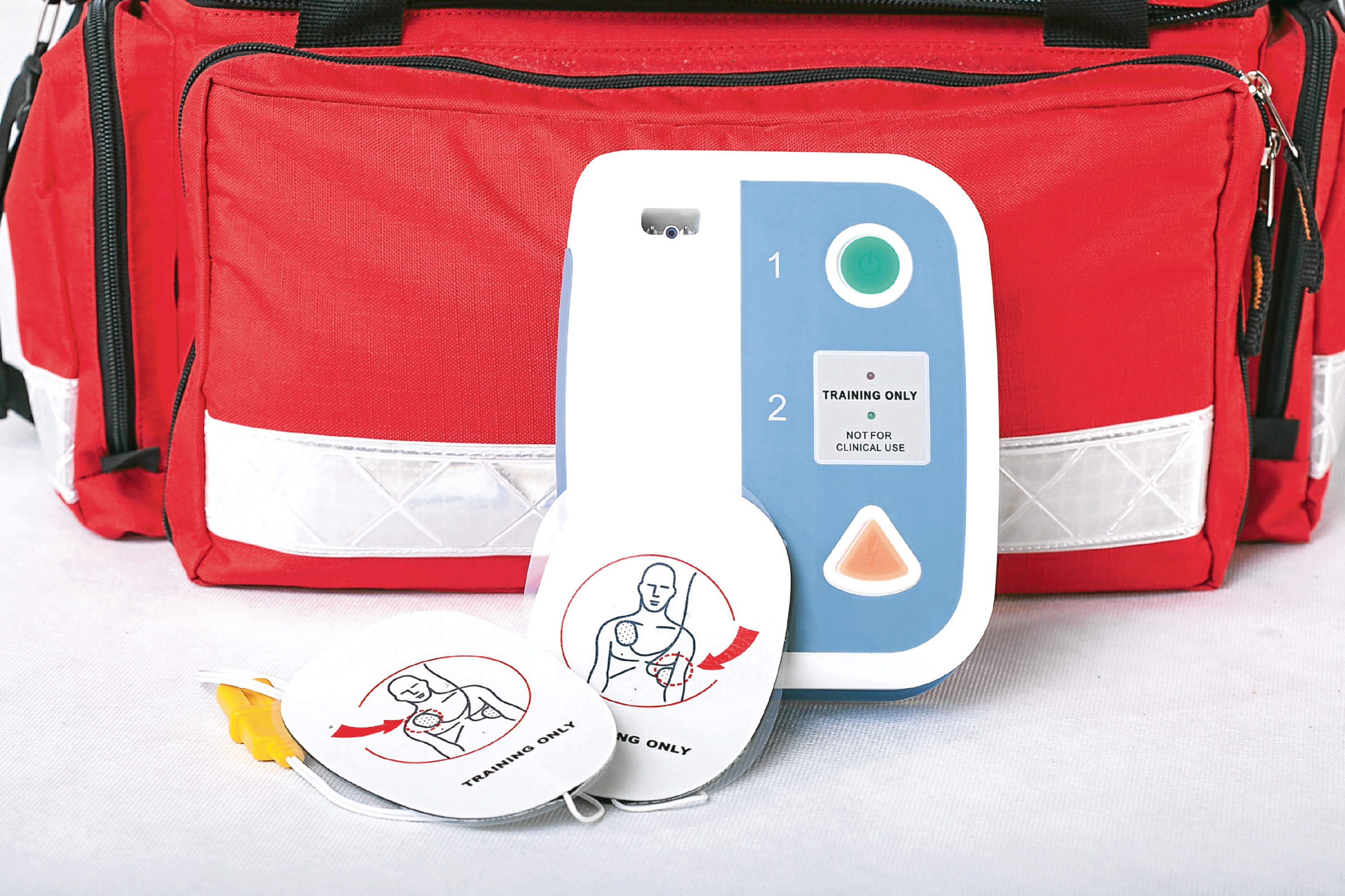 Automated External Defibrillator and rescue bag. (PA Photo/thinkstockphotos)