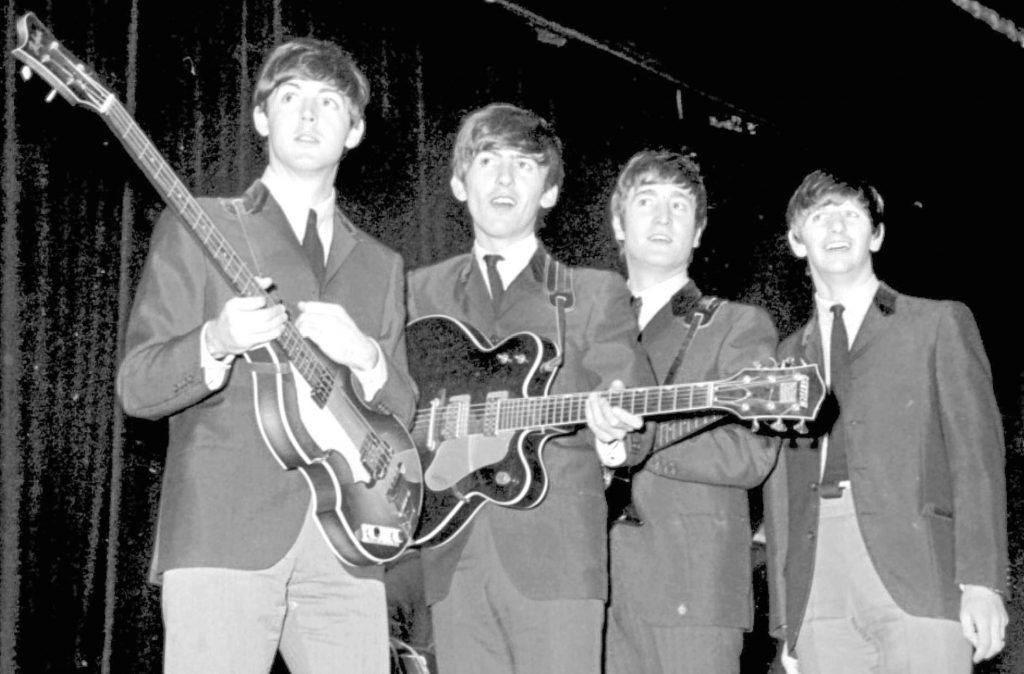 The Beatles during rehearsals for the 1963 Royal Variety Performance (PA Archive/PA Images)