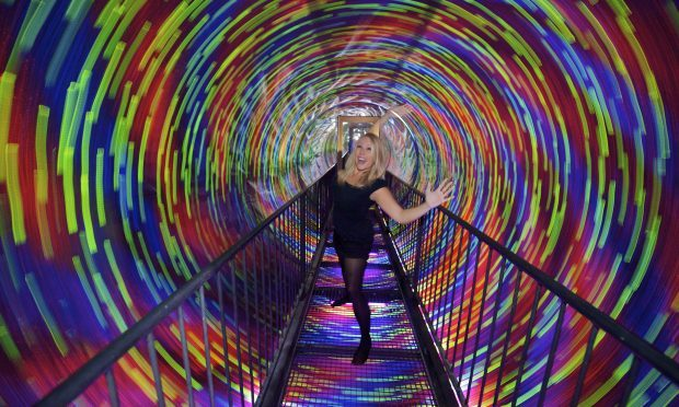 One of the new illusions at Edinburgh's Camera Obscura and World of Illusions the Vortex Tunnel