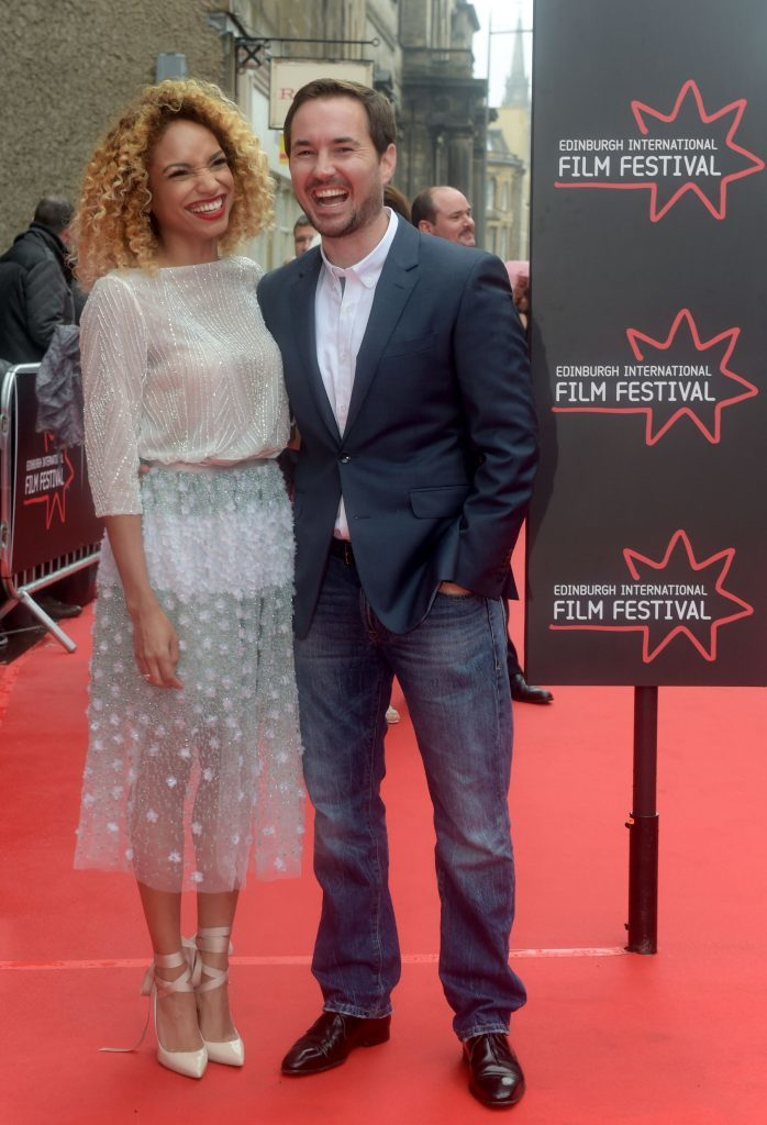 Martin Compston and wife Tianna Chanel Flynn (Jane Barlow / PA Wire)