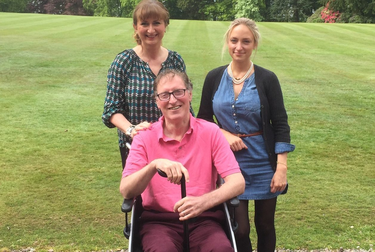 Richard Selley with wife Elaine and daughter Lorna.