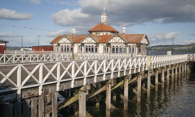 The old Victorian pier and ferry terminal at Dunoon (Getty Images)