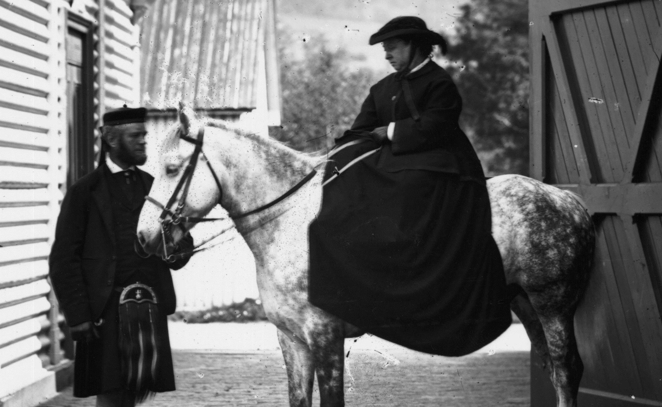 Queen Victoria and her personal attendant John Brown ready for a ride at Balmoral (W & D Downey/Getty Images)