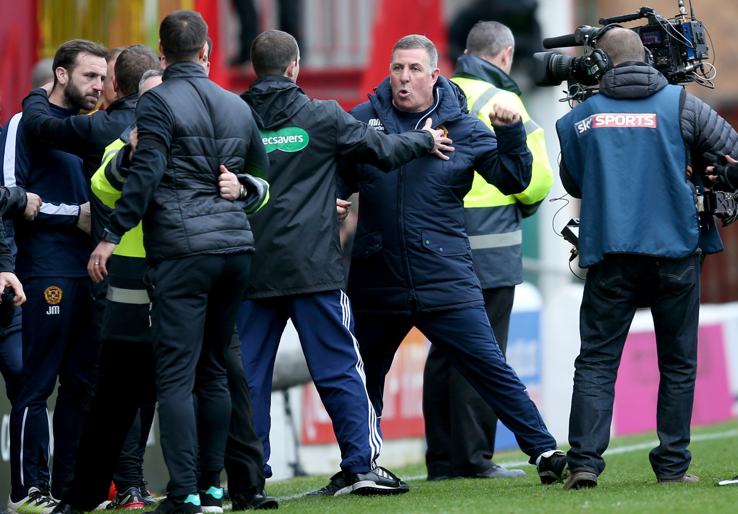 Motherwell manager Mark McGhee at the end of the  match at Fir Park (Jane Barlow/PA Wire)
