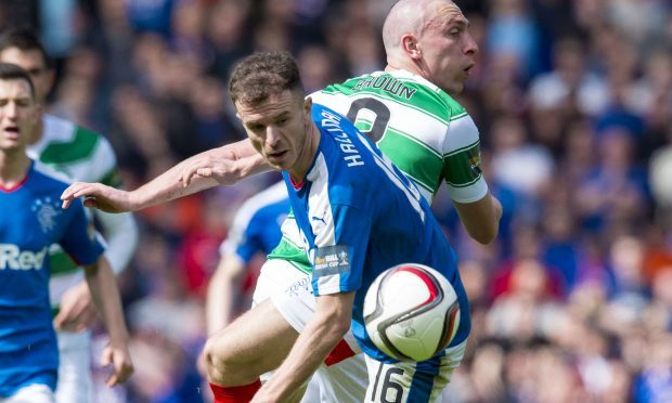 Andy Halliday in action for Rangers with Scott Brown of Celtic (SNS Group)