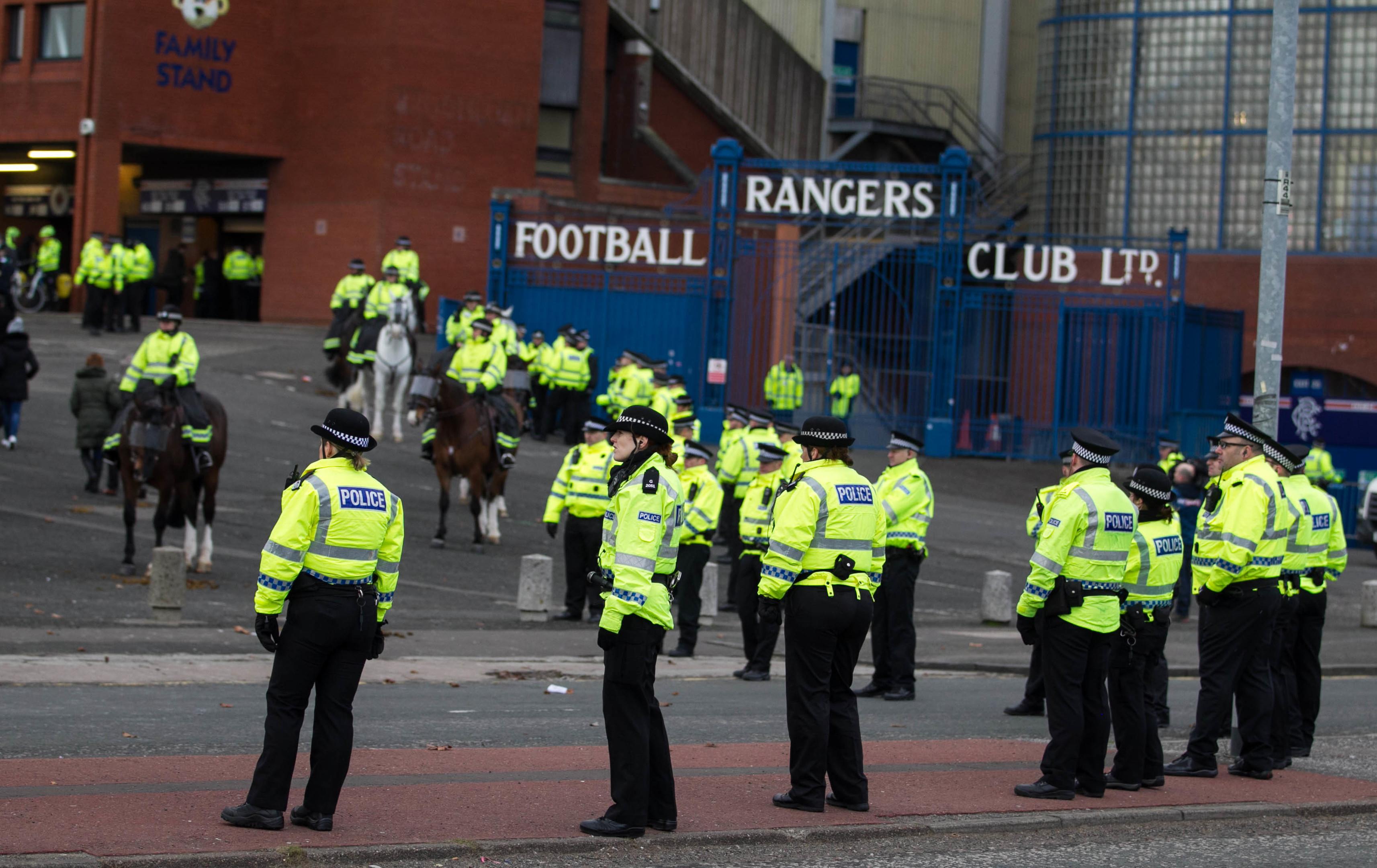 Police at Ibrox (Chris Austin / DC Thomson)