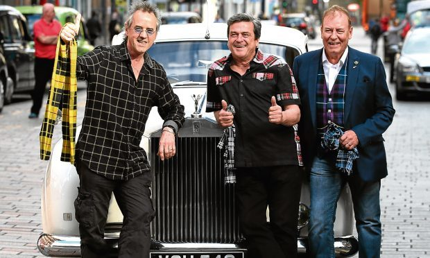 Bay City Rollers (left to right)  Stuart Wood, Les McKeown and Alan Longmuir (Andrew Milligan/PA Wire)