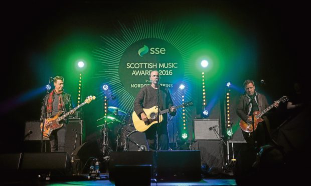 Travis performing at the SSE Scottish Music Awards (Andy Buchanan/PA Wire)