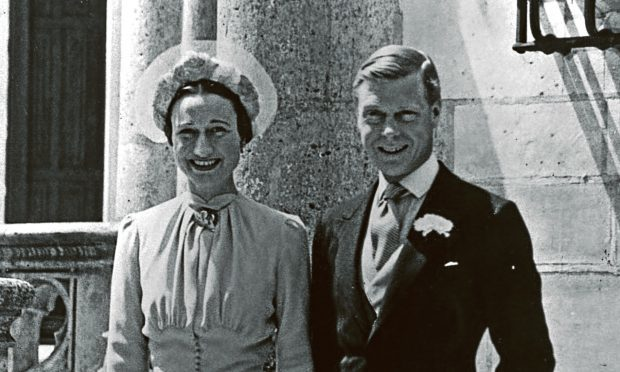 Duke of Windsor (1894 - 1972) and Mrs Wallis Simpson (1896 - 1986) on their wedding day, 1937  (Central Press/Getty Images)