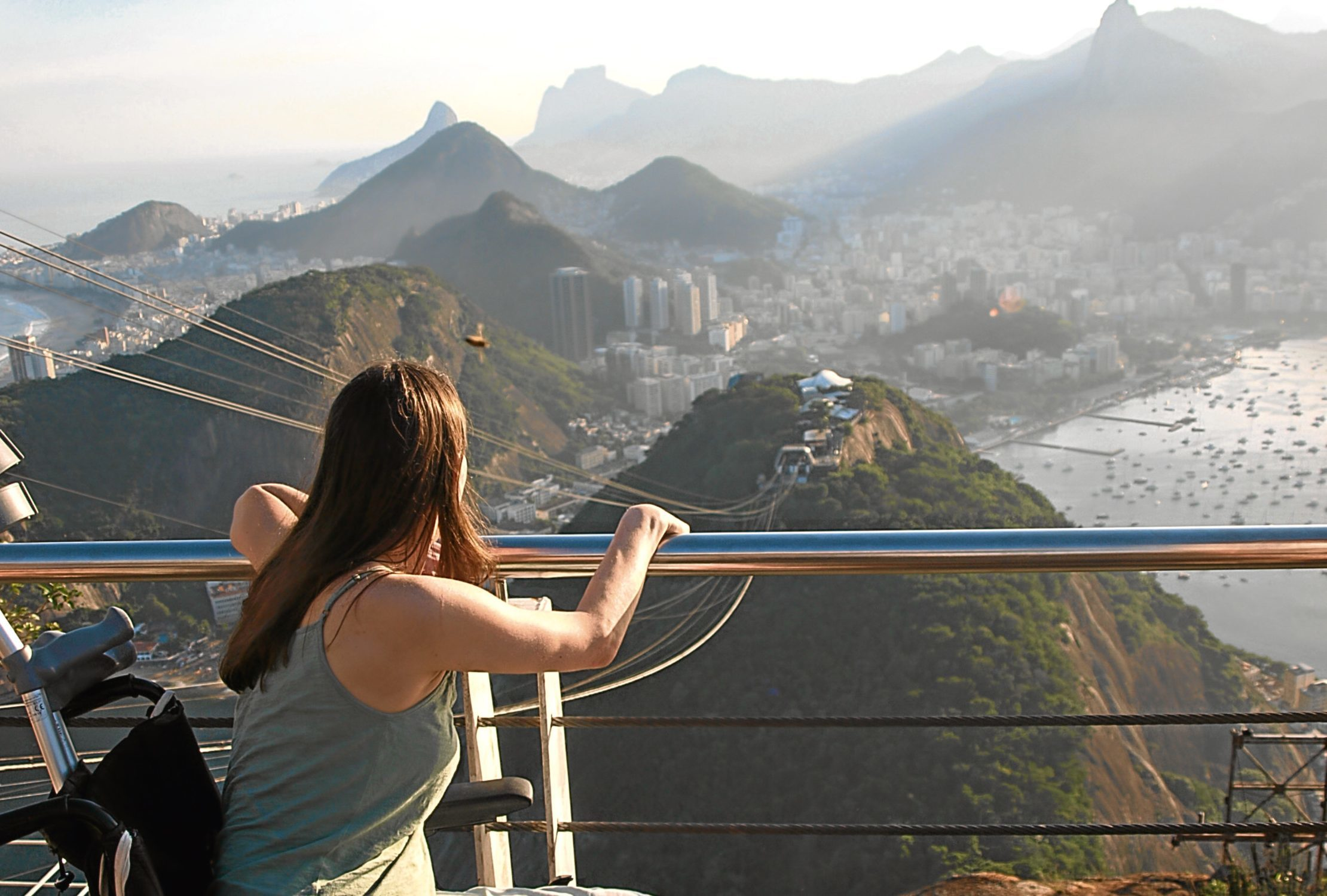 Susie loved to travel before her diagnosis, and still does, visiting places like Rio.
