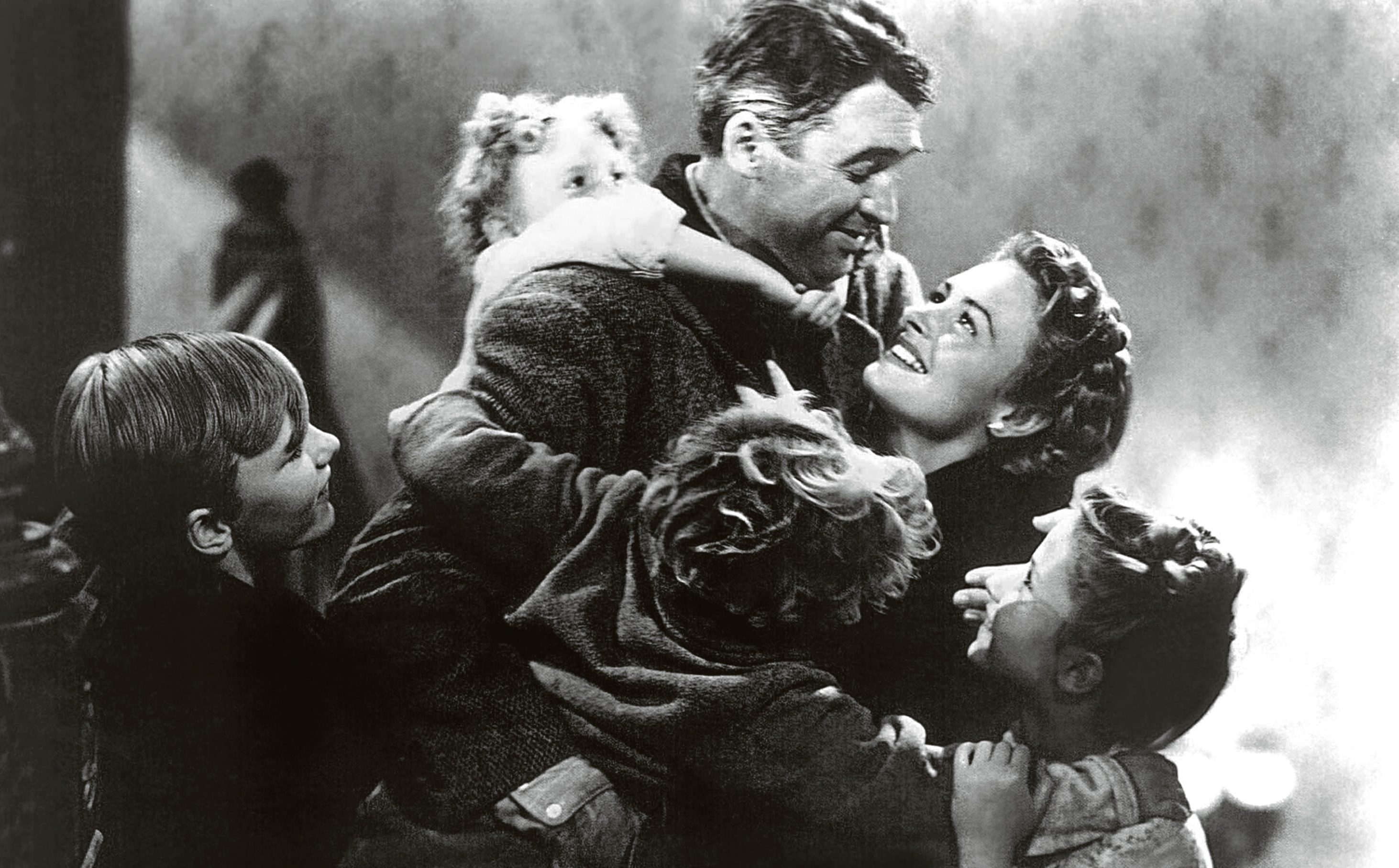 James Stewart and Donna Reed in It's a Wonderful Life (Allstar/RKO)