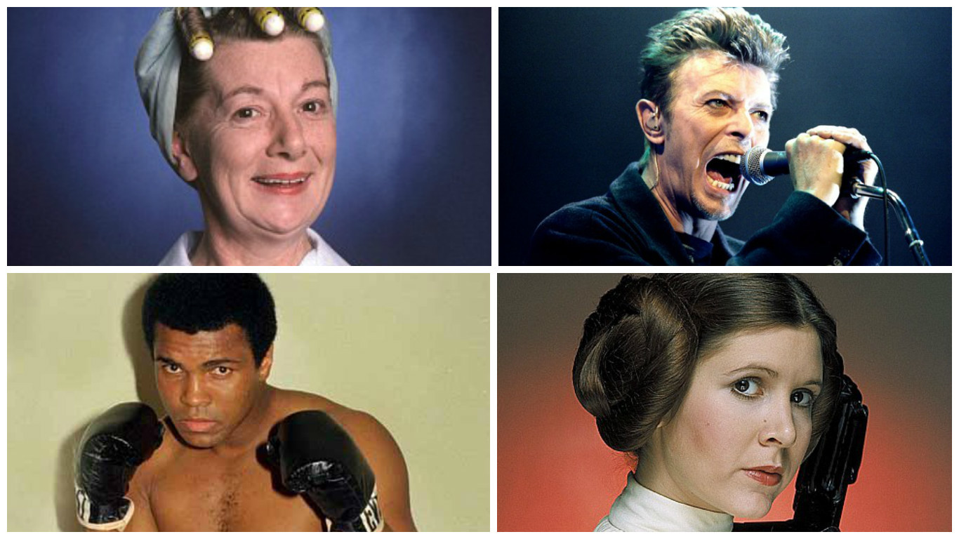 Famous faces we lost in 2016