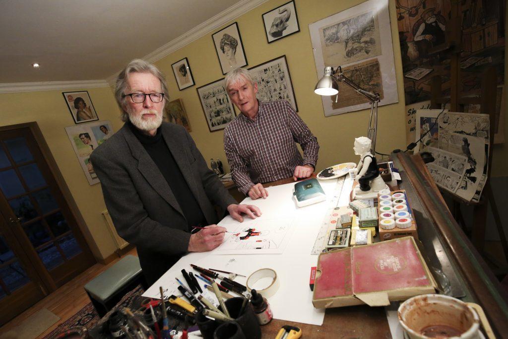 Peter Davidson and Morris Heggies