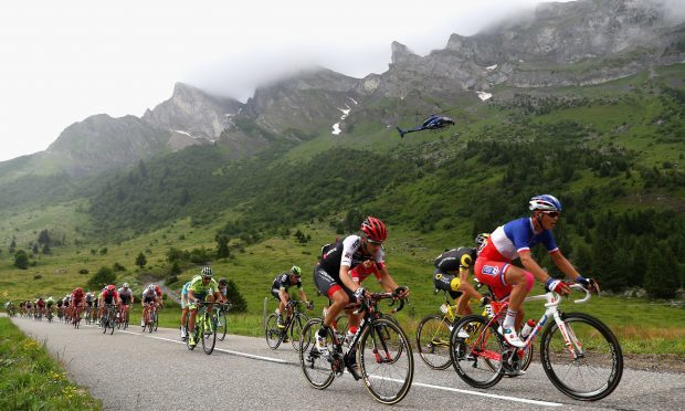 Arthur Vichot of France and FDJ in action during stage twenty of the 2016 Le Tour de France, from Megeve to Morzine on July 23, 2016 in Megeve, France.  (Photo by Michael Steele/Getty Images)