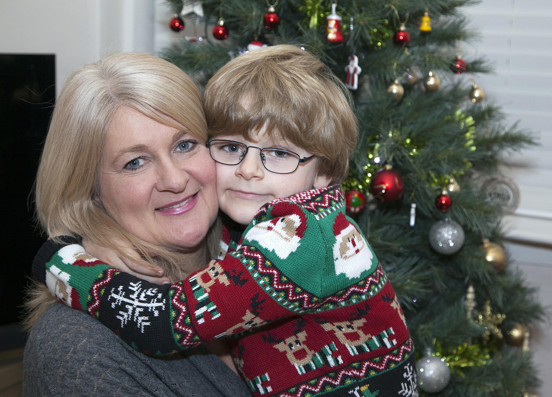 Cecilia Tymkewycz-Fife and son Oscar (Alistair Linford)