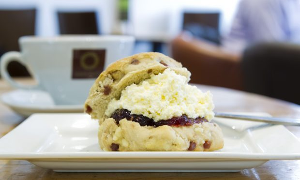 Saporito's delicious white chocolate and raspberry scone (Andrew Cawley / DC Thomson)
