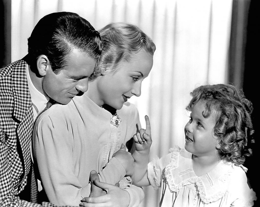 Carole with Gary Cooper and Shirley Temple in Now and Forever, 1934 (Allstar/PARAMOUNT)
