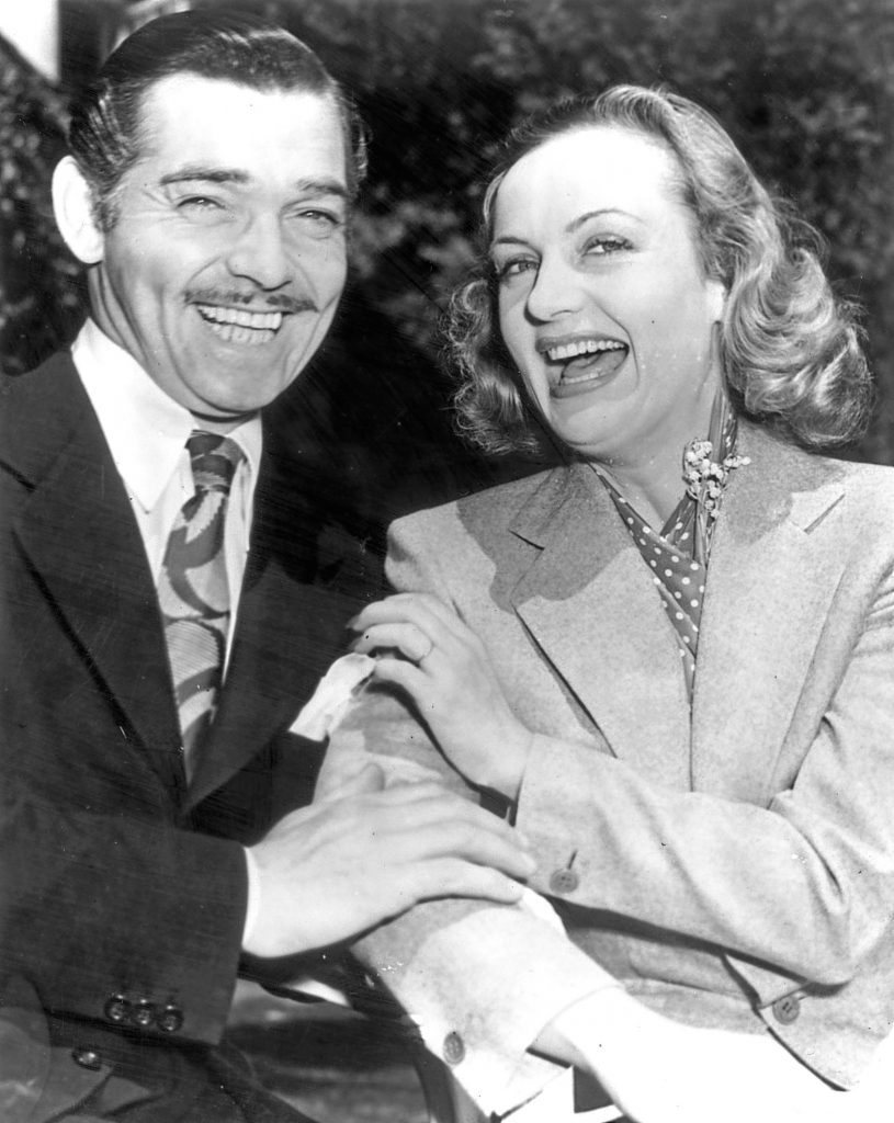 Clark Gable and Carole Lombard after their elopement (Keystone/Getty Images)