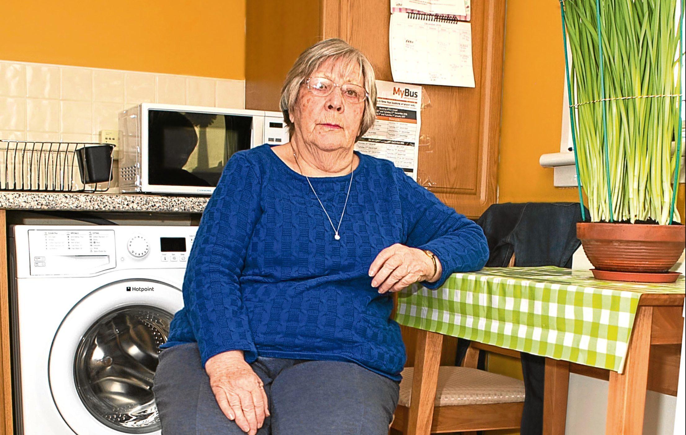 Nan Dalton has had problems with her kitchen floor (Chris Austin / DC Thomson)