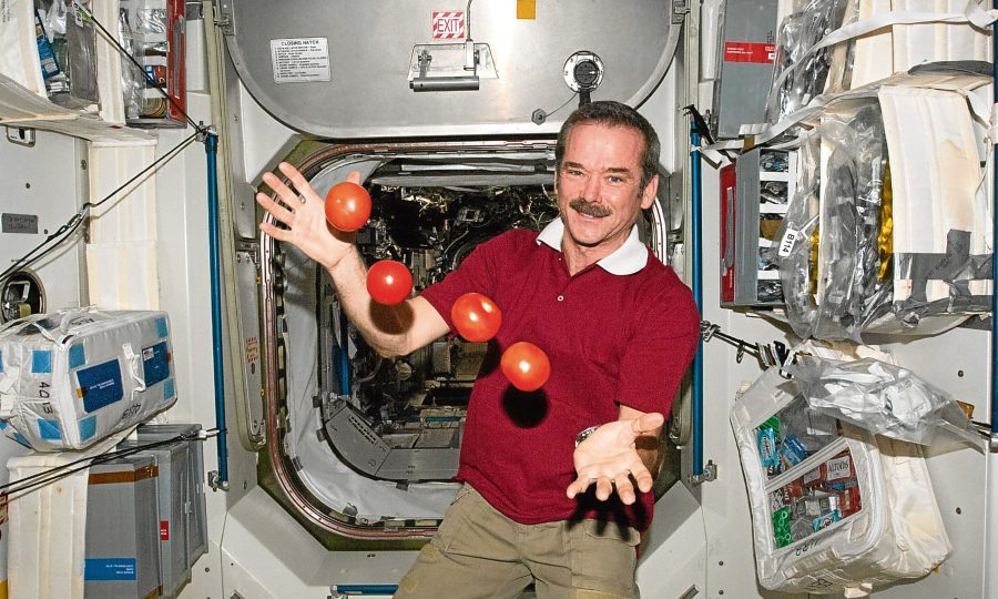 How many times has chris hadfield been to space